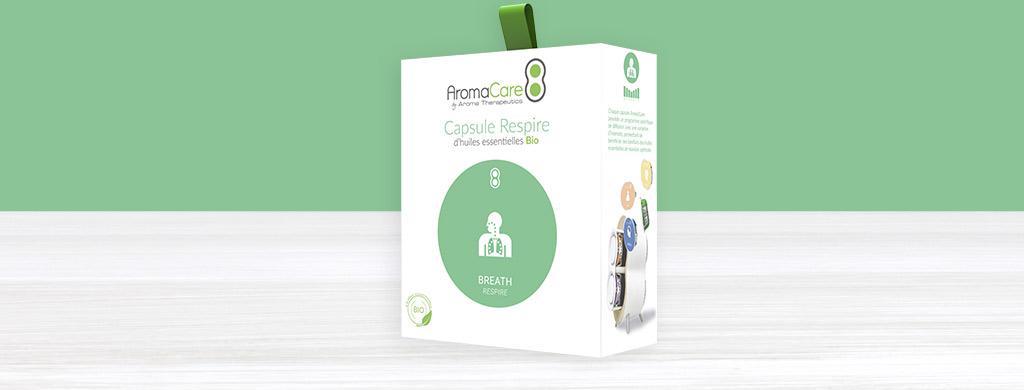 AromaCare capsule Respire aux huiles essentielles bio