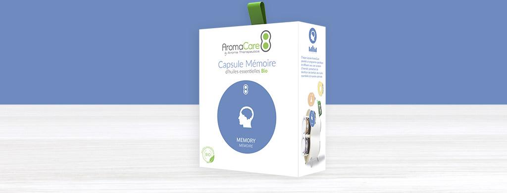 AromaCare capsule memoire aux huiles essentielles bio