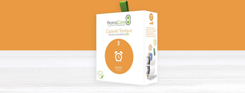 AromaCare capsule tonique aux huiles essentielles bio