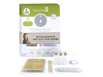 Capusle Blanche AromaCare Packaging et interieur dr couic marinier