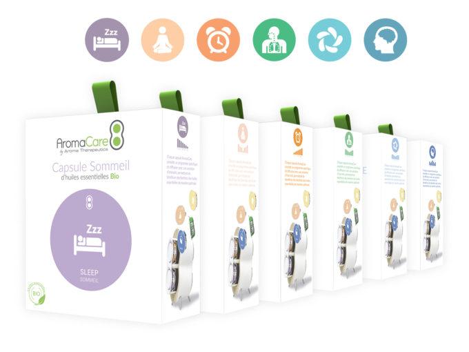 Pack de 6 capsules Découverte AromaCare