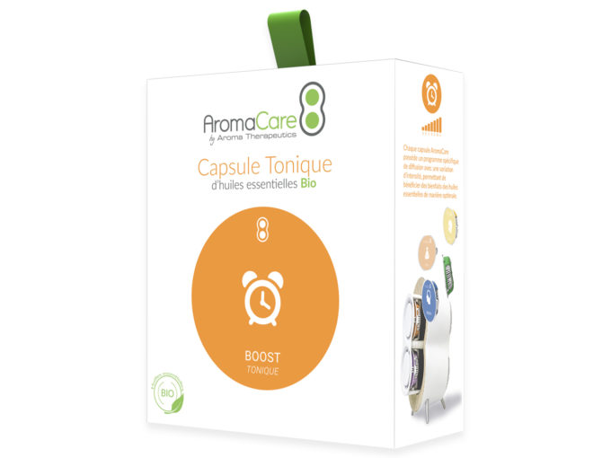 Packaging AromaCare Capsule Tonique Avant