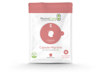 Packaging Migraine Capsule essential oils AromaCare Face