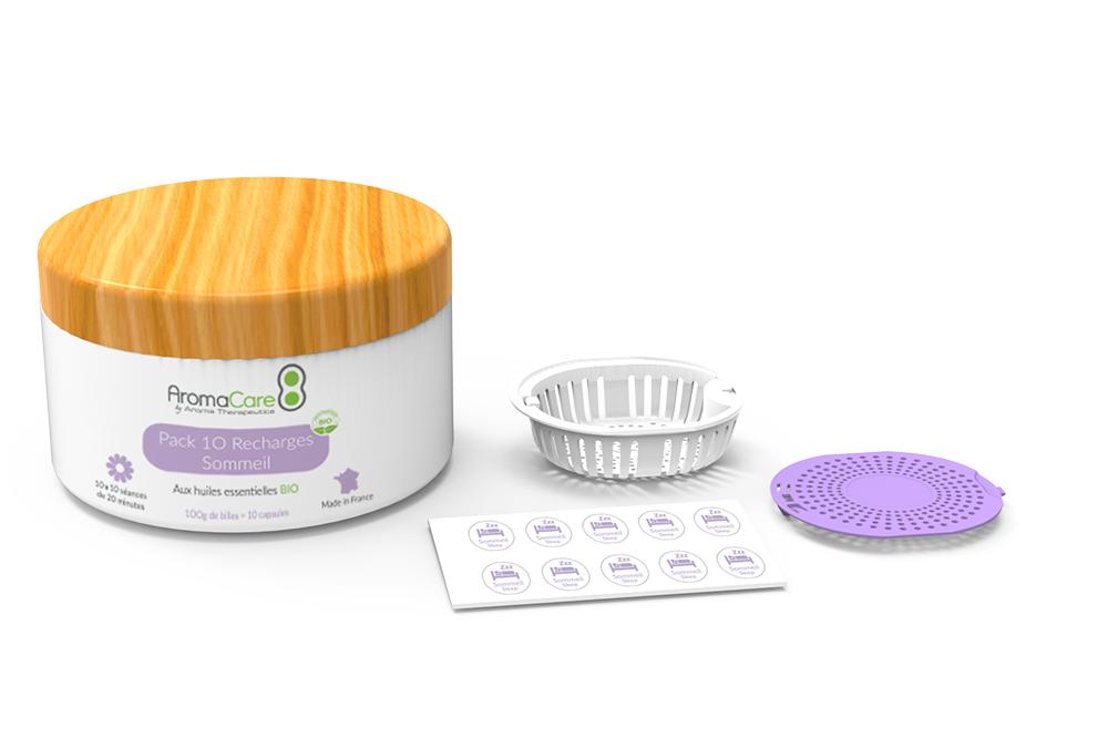 Kit de recharge de bille capsule rechargeable AromaCare